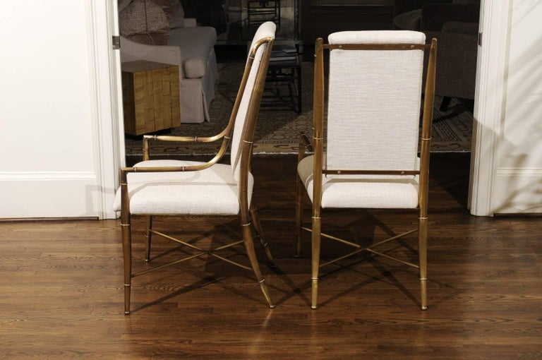Magnificent Set of Ten Dining Chairs by Weiman/Warren Lloyd for Mastercraft In Excellent Condition For Sale In Atlanta, GA