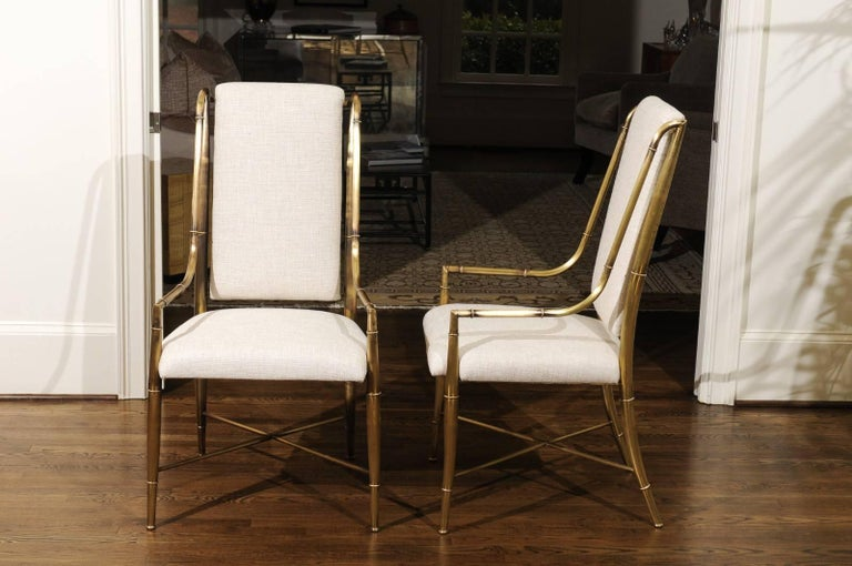 Late 20th Century Magnificent Set of Ten Dining Chairs by Weiman/Warren Lloyd for Mastercraft For Sale