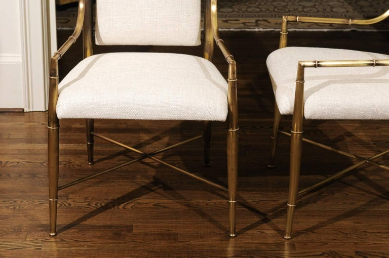 Magnificent Set of Ten Dining Chairs by Weiman/Warren Lloyd for Mastercraft For Sale 1