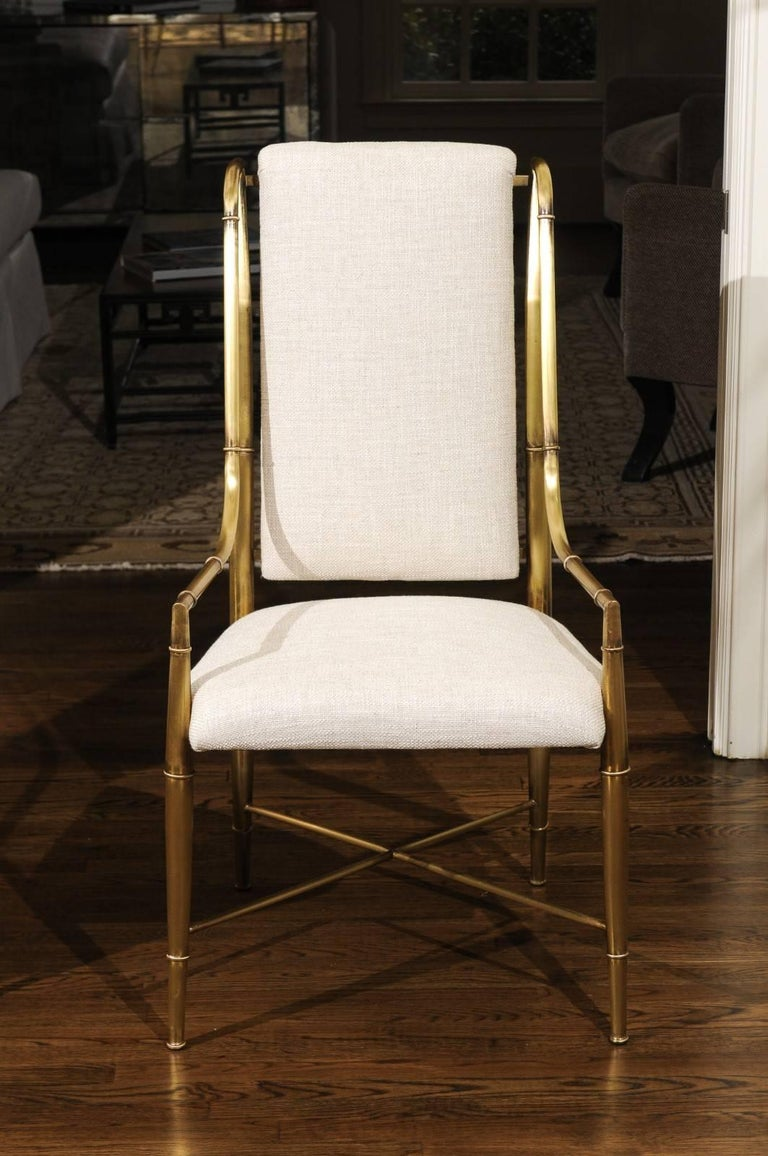 Magnificent Set of Ten Dining Chairs by Weiman/Warren Lloyd for Mastercraft For Sale 8