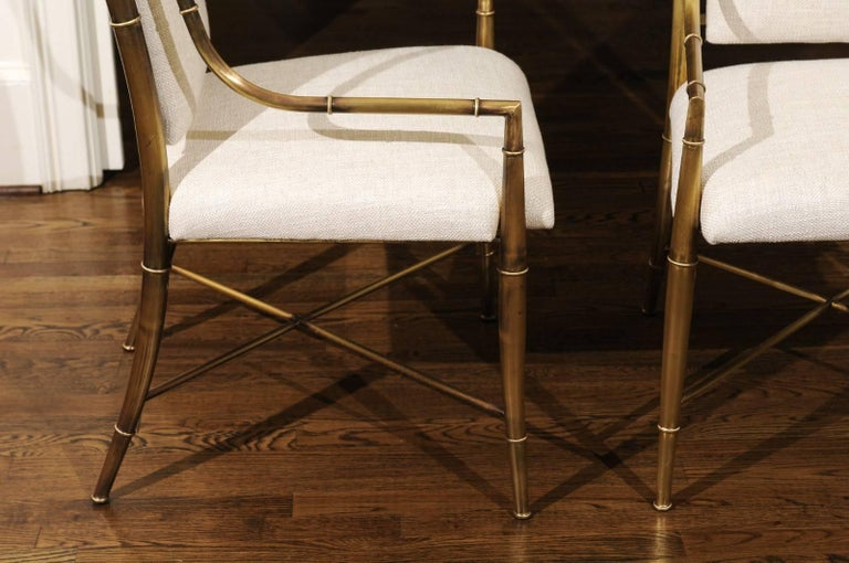 Magnificent Set of Ten Dining Chairs by Weiman/Warren Lloyd for Mastercraft For Sale 9
