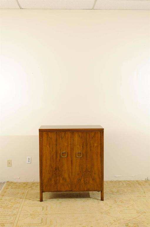 Mid-Century Modern Exquisite Widdicomb Chest in Bookmatched Black Walnut For Sale