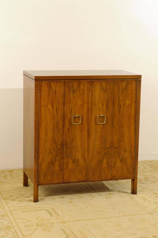 Exquisite Widdicomb Chest in Bookmatched Black Walnut For Sale 2
