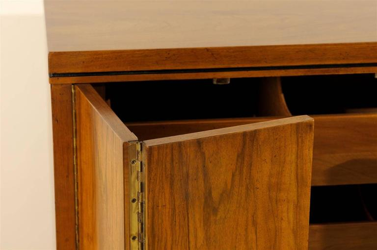 Exquisite Widdicomb Chest in Bookmatched Black Walnut In Excellent Condition For Sale In Atlanta, GA