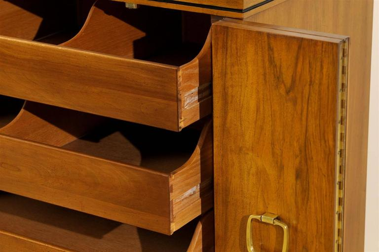 Exquisite Widdicomb Chest in Bookmatched Black Walnut For Sale 3