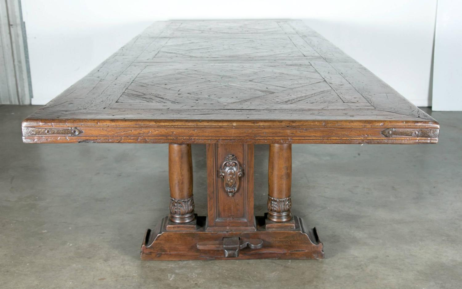 french 18th century baluster leg chateau trestle table at 1stdibs