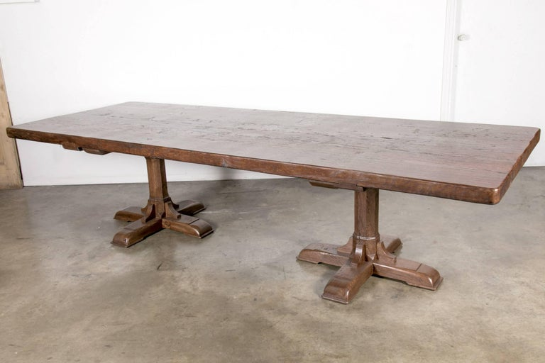 Custom 10 foot french farmhouse table made from imported for 10 ft farmhouse table
