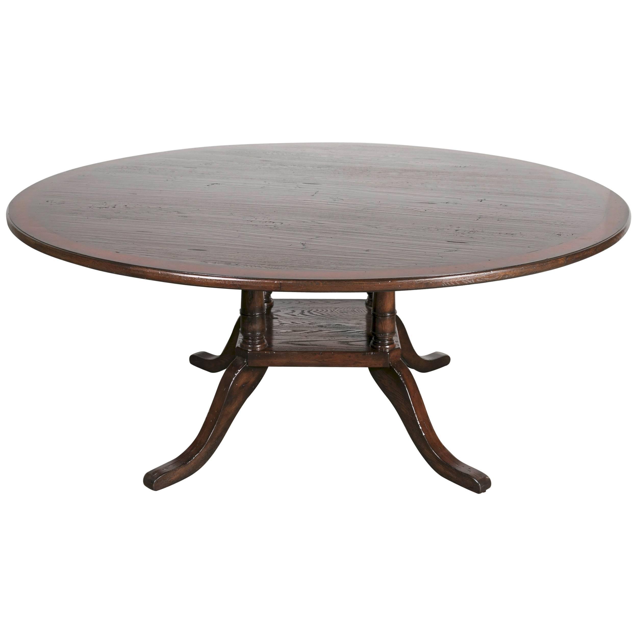 Georgian Style Round Birdcage Pedestal Dining Table