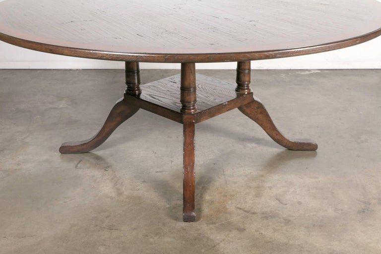 Georgian Style Round Birdcage Pedestal Dining Table For