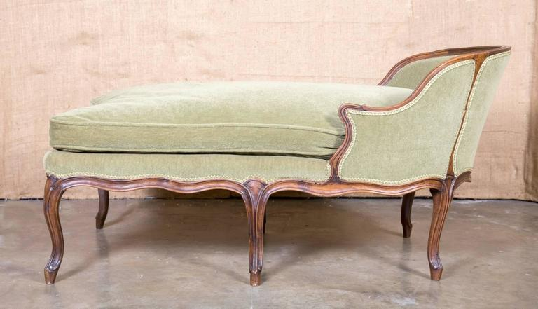 Louis XV Style Petite Chaise Longue For Sale at 1stdibs
