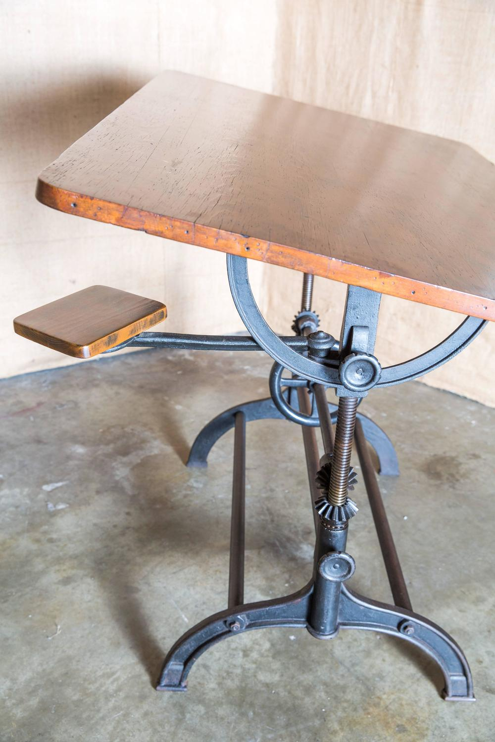 Vintage American Drafting Table By Hamilton At 1stdibs
