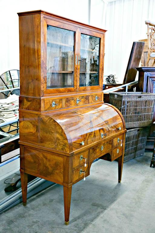 Late 18th Century 18th Century Louis XVI Period Bureau à Cylindre or Cylinder Desk For Sale