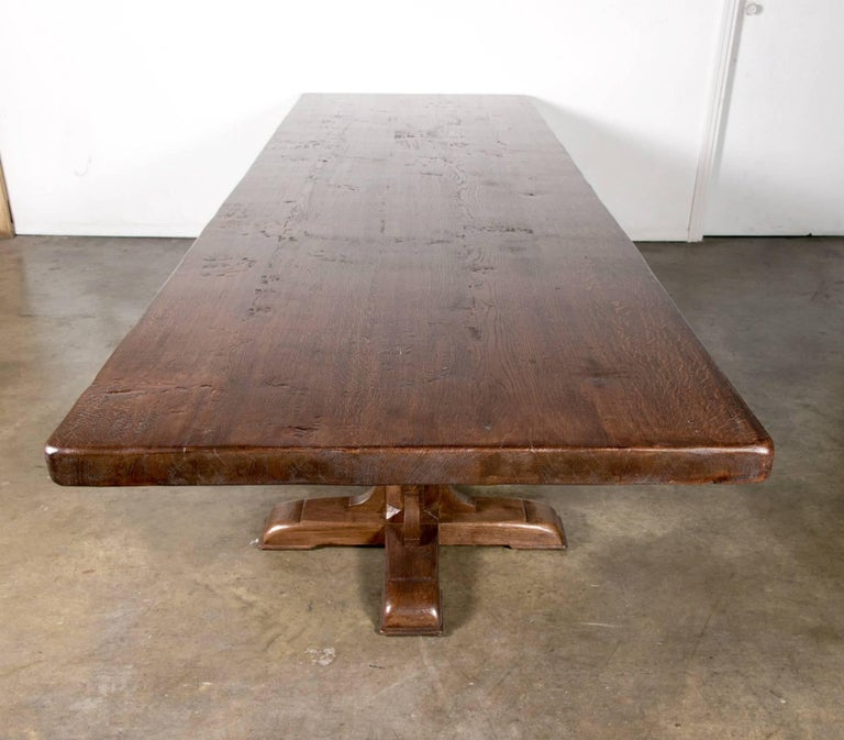12 Foot Dining Room Tables: Custom Twelve-Foot French Farmhouse Table Made From