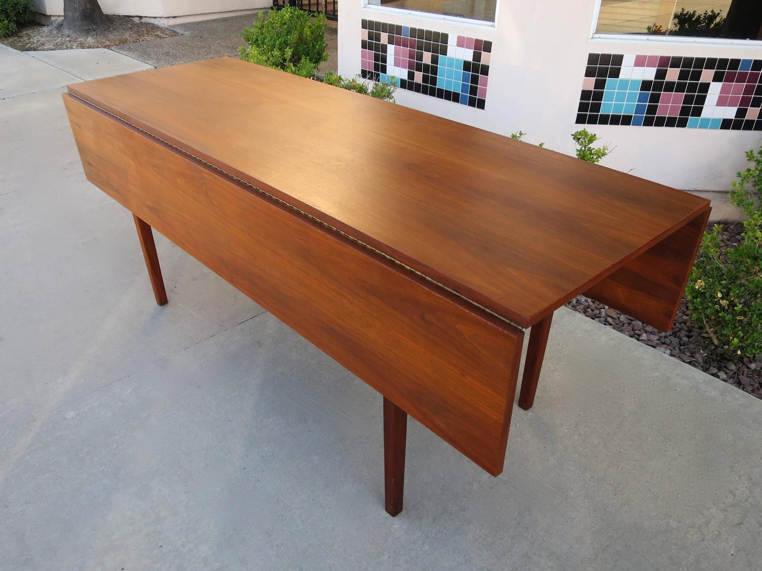 Mid Century Drop Leaf Dining Table Or Console In Walnut