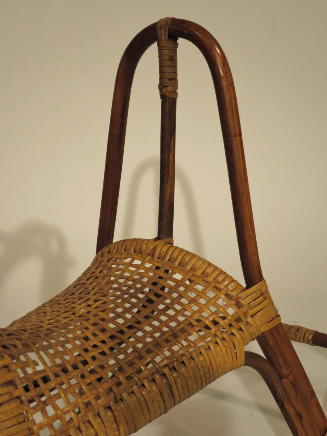 Mid Century Cane And Rattan Rocking Horse For Sale At 1stdibs
