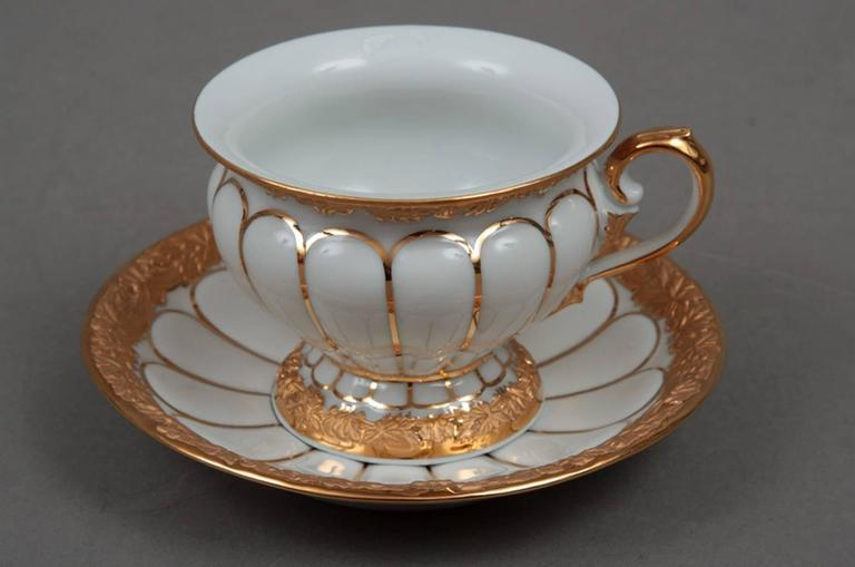 German Meissen Cup with Golden Baroque Pattern For Sale