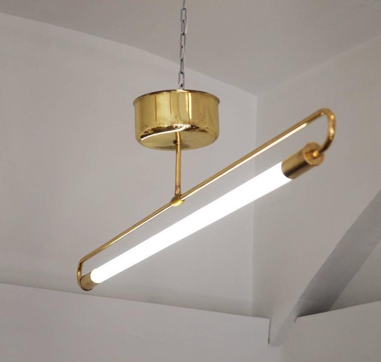 Tube Light Attributed To Kaiser Leuchten For Sale At 1stdibs