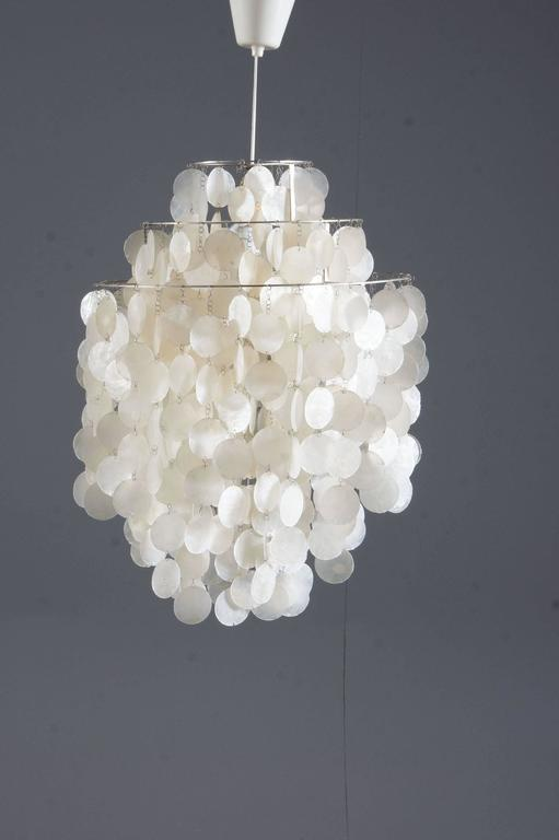 Verner Panton Fun 1 DM Capize Shell Chandelier For Sale 1