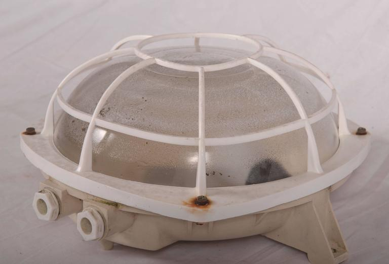 Late 20th Century Wall or Ceiling Industrial Lamp from 1970s For Sale