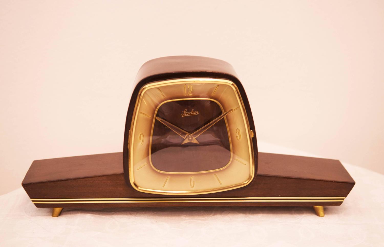 Mid Century Mantel Clock By Stocker At 1stdibs