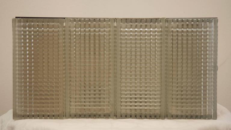 Large Rectangular Wall or Ceiling Lamp from 1970s In Excellent Condition For Sale In Vienna, AT