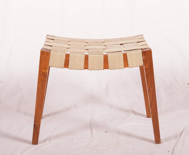Wooden Stool With Jute Belts For Sale At 1stdibs