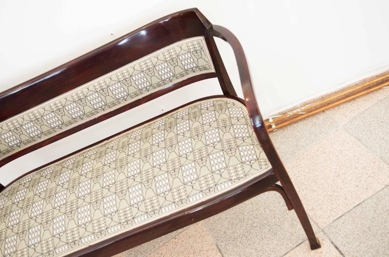 Austrian Thonet Bench Attributed to Otto Wagner For Sale