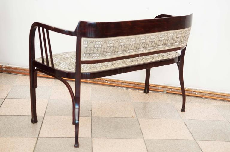 Early 20th Century Thonet Bench Attributed to Otto Wagner For Sale