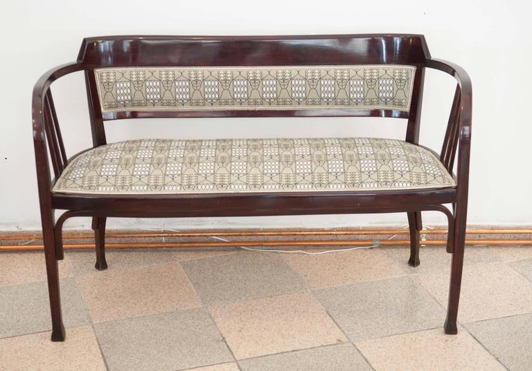 Beech Thonet Bench Attributed to Otto Wagner For Sale