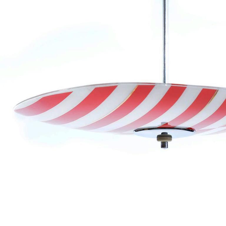 Czech Mid Century Yellow Pendant Lamp For Brussels World