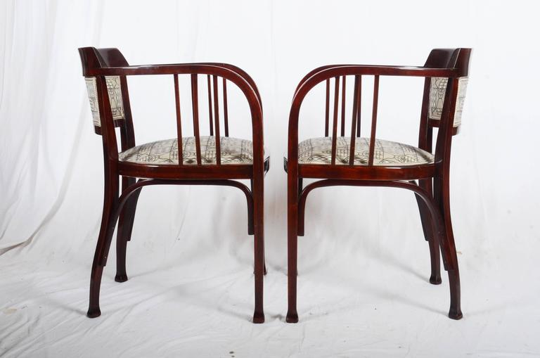 Design attributed to Otto Wagner. Beautiful restored. Up to 8 pieces available.