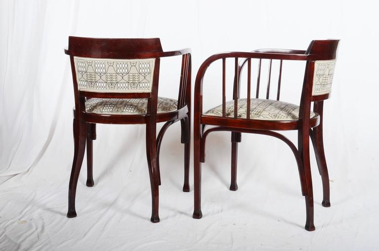 Thonet Armchairs Attributed to Otto Wagner In Excellent Condition For Sale In Vienna, AT