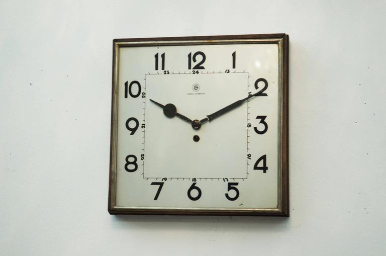 Big Kienzle Bauhaus Wall Clock, 1930s 5