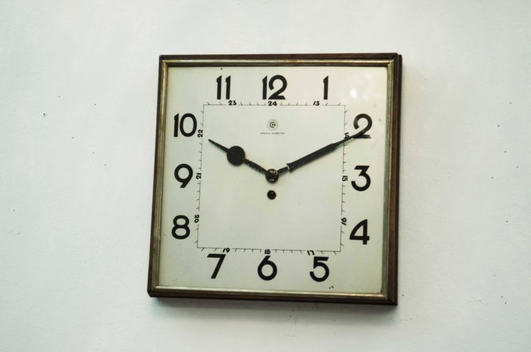 Big Kienzle Bauhaus Wall Clock, 1930s 3