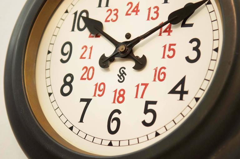 Siemens Halske Bauhaus Factory Or Workshop Wall Clock At