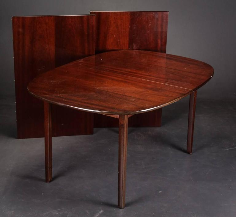 Mid-20th Century Ole Wanscher 'Rungstedlund' Dining Table and Eight Chairs For Sale