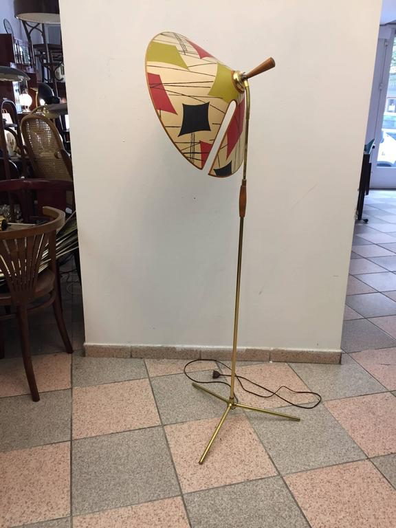 Beautiful Adjustable Brass Floor Lamp By Rupert Nikoll For Sale At 1stdibs