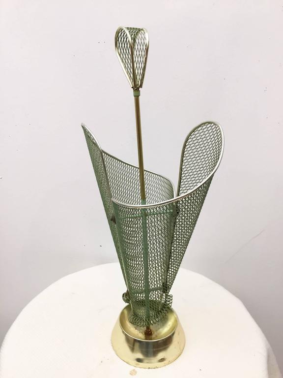 Mid-Century Modern Mid-Century Green Italian Umbrella Stand For Sale