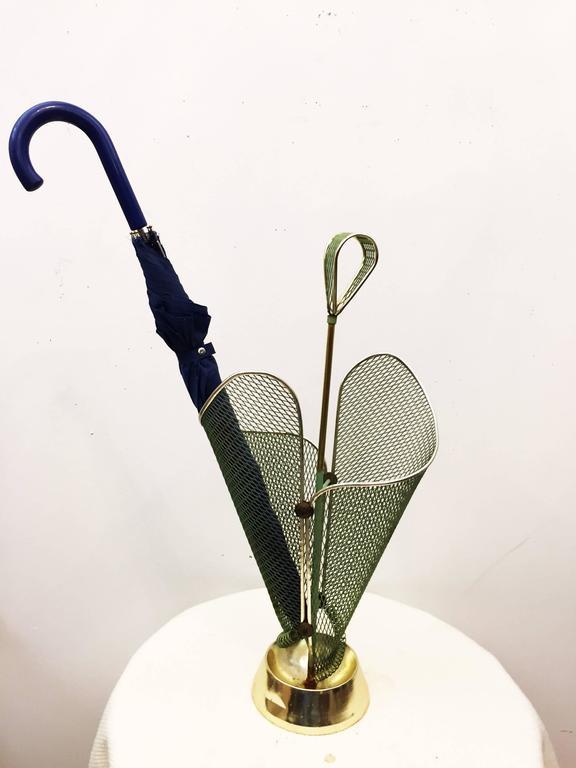 Mid-Century Green Italian Umbrella Stand For Sale 1