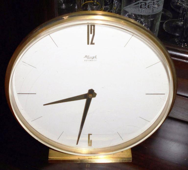 Mid-Century Table Clock by Kienzle 2