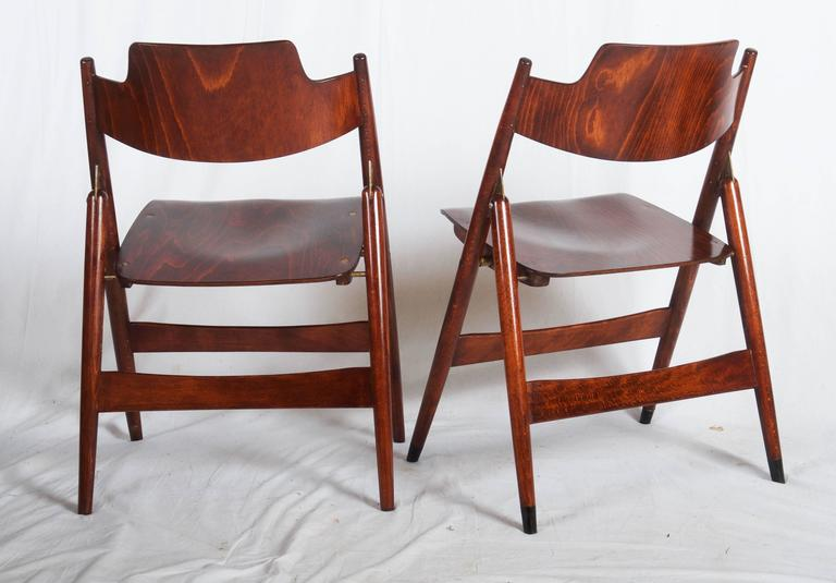 Remarkable Mid Century Folding Chair By Egon Eiermann Spiritservingveterans Wood Chair Design Ideas Spiritservingveteransorg
