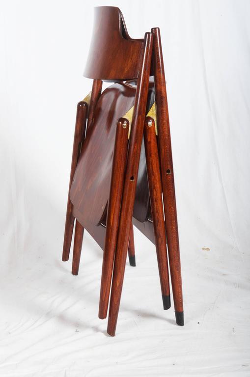 German Mid-Century Folding Chair by Egon Eiermann For Sale