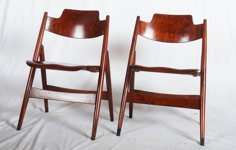 Mid Century Folding Chair by Egon Eiermann For Sale at 1stdibs