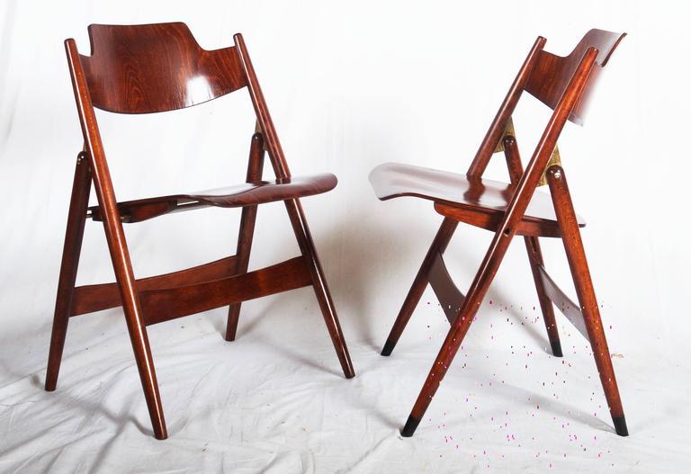Mid-Century Folding Chair by Egon Eiermann For Sale 2