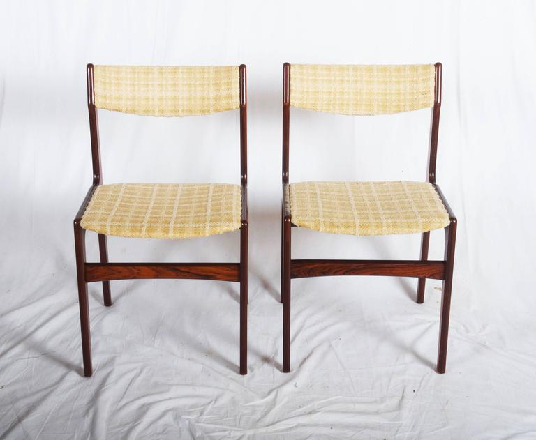 Set of Six Mid-Century Danish Rosewood Dining Chairs 3