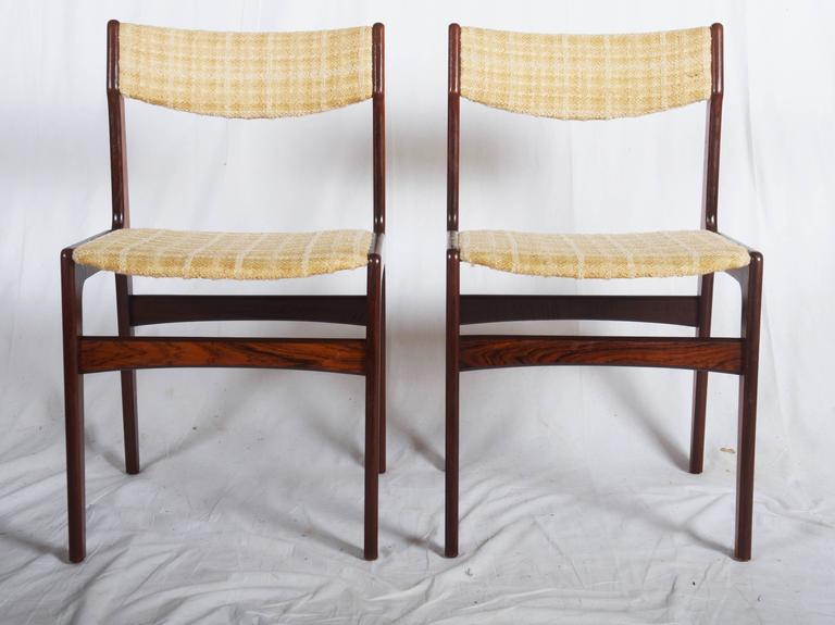 Set of Six Mid-Century Danish Rosewood Dining Chairs 5