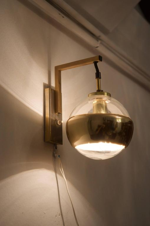 Steel Wall Light, Sconce by Peill & Putzler For Sale