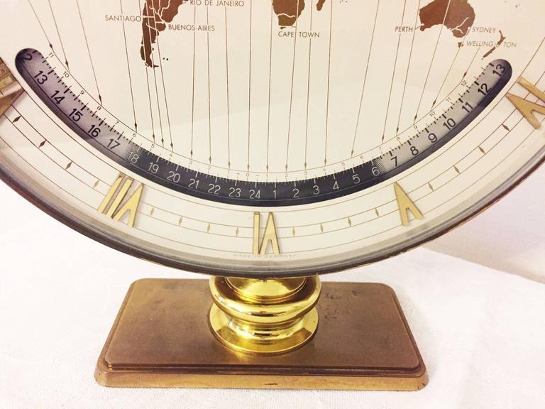 Big Kienzle Weltzeituhr Modernist Table World Timer Zone Clock, 1960s 3
