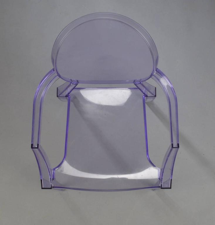 Modern Purple Kartell Louis Ghost Chair By Philippe Starck For
