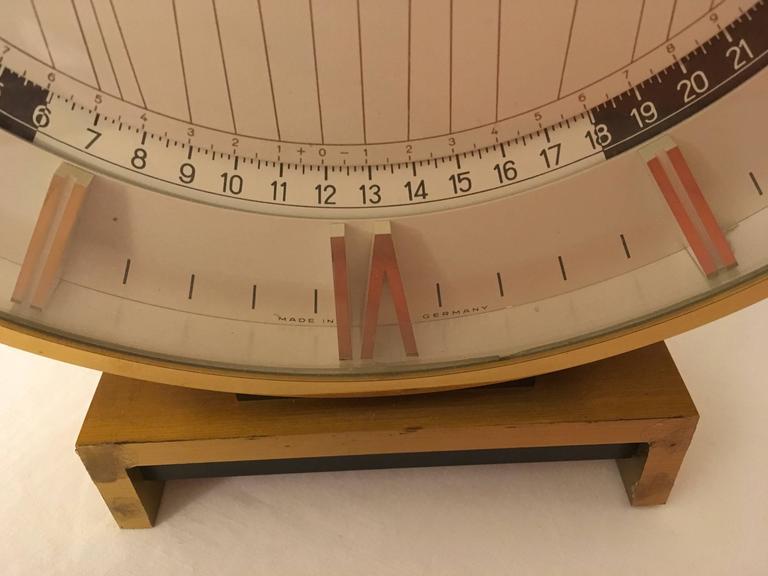 Big Kienzle Weltzeituhr Modernist Table World Timer Zone Clock 3
